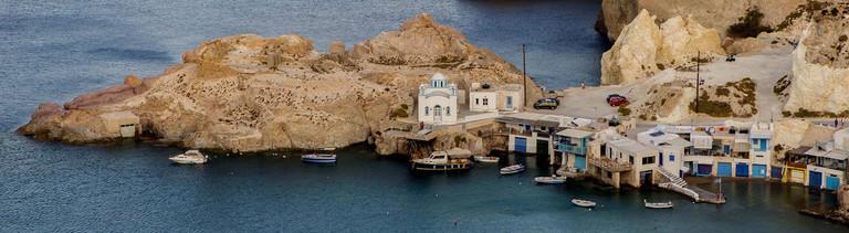 Fischerdorf auf Milos in Griechenland