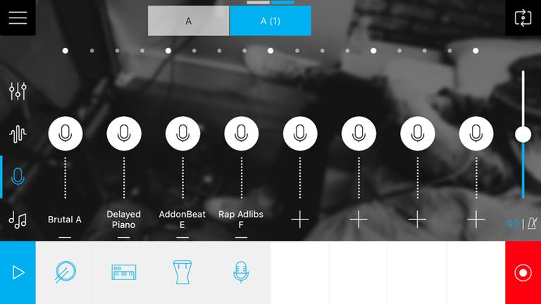 Screenshot der App Musik Maler