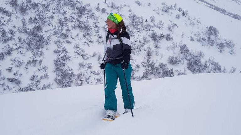 Schneeschuhwandern.