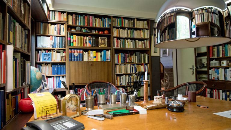 Helmut Schmidts Schreibtisch