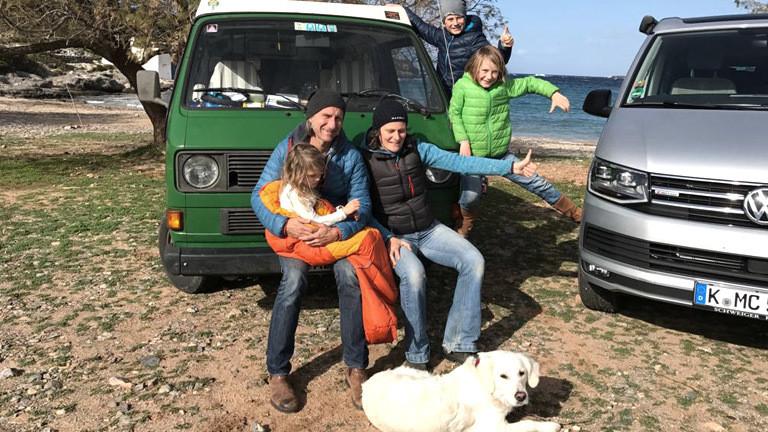 Familie Rech-Heider auf ihrer Tour durch Europa.