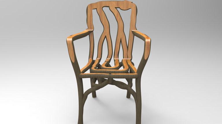 Ein selbst gewachsener Stuhl des Designers Gavin Munro