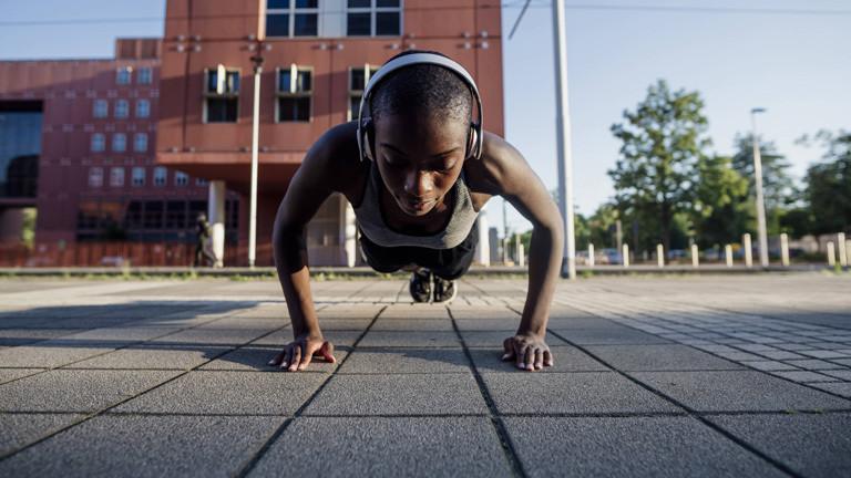 Muskeltraining mit dem eigenen Körpergewicht.