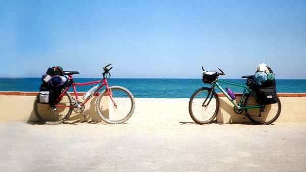 Fahrräder am Meer