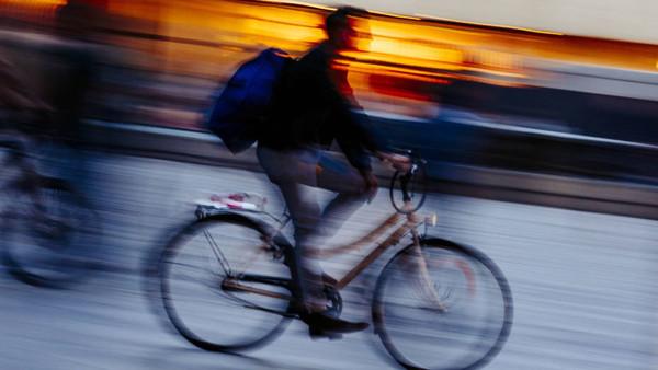Radfahrer.