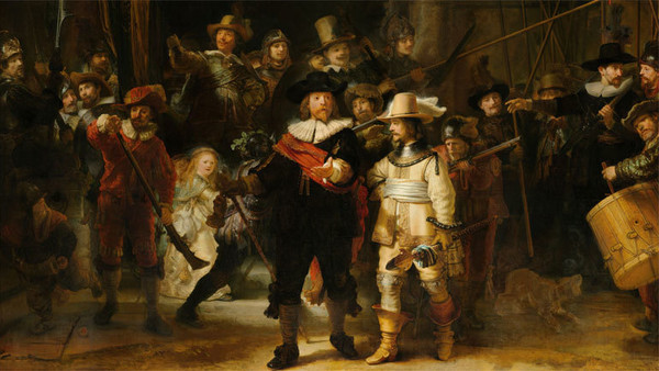 Die Nachtwache - Gemälde des Malers Rembrandt