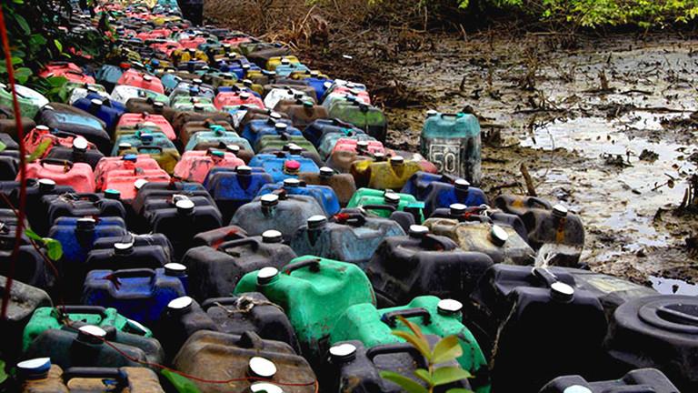 Ölkanister in Nigeria.