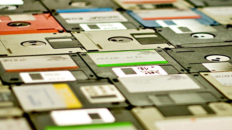 Disketten liegen nebeneinander.