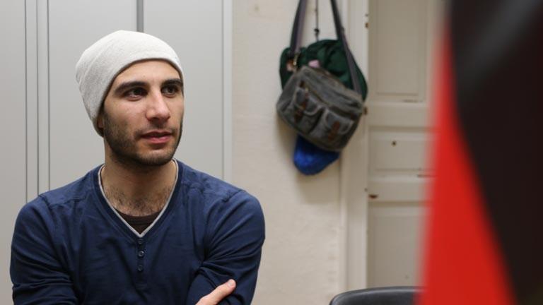 Omar ist von Syrien nach Deutschland geflüchtet.