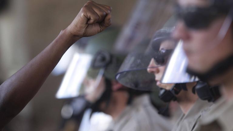 Schießerei in San Diego am 28. September 2016. Symbolbild für Polizeigewalt und Diskriminierung und Rassismus in den USA.