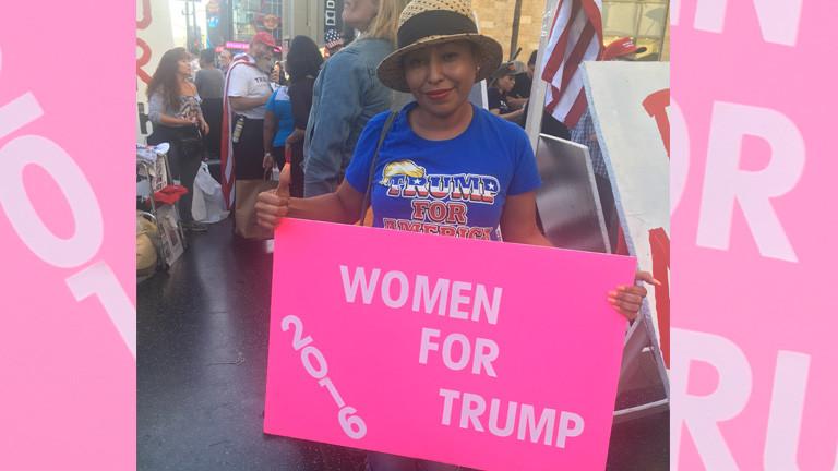 Elsa, selbst Immigrantin aus El Salvador, wählt Trump