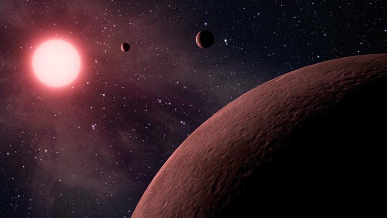 Planeten im Weltall.