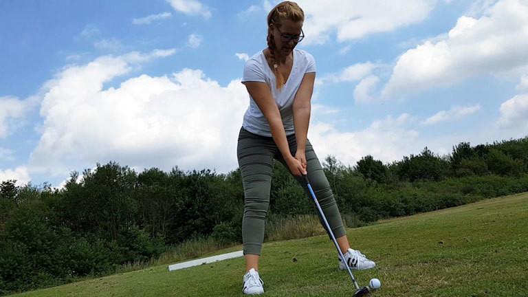 Caro beim Golfen 52weeks52sports