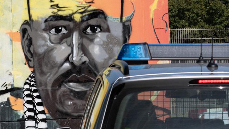 Ein Graffito vom getöteten Nidal R. in Berlin.