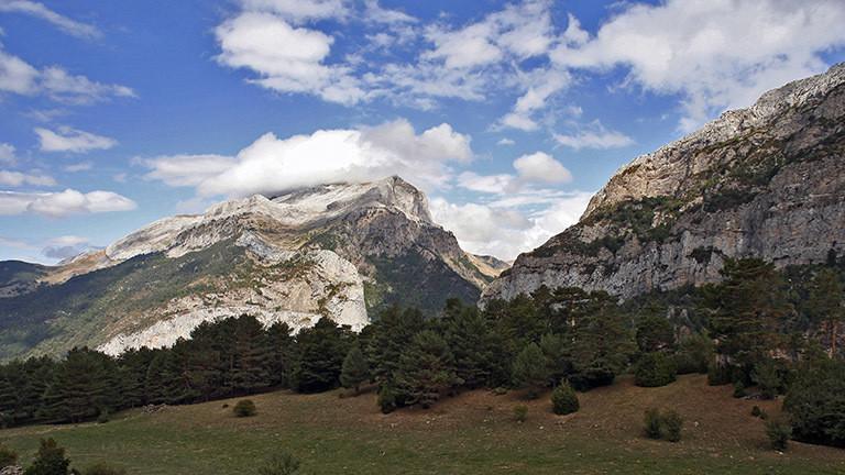 Berge in den Pyrenäen.