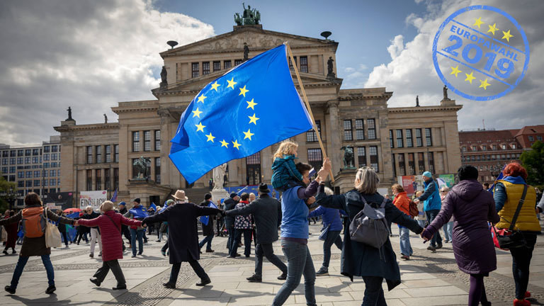 Demo von Pulse for Europe in Berlin 5.5.19