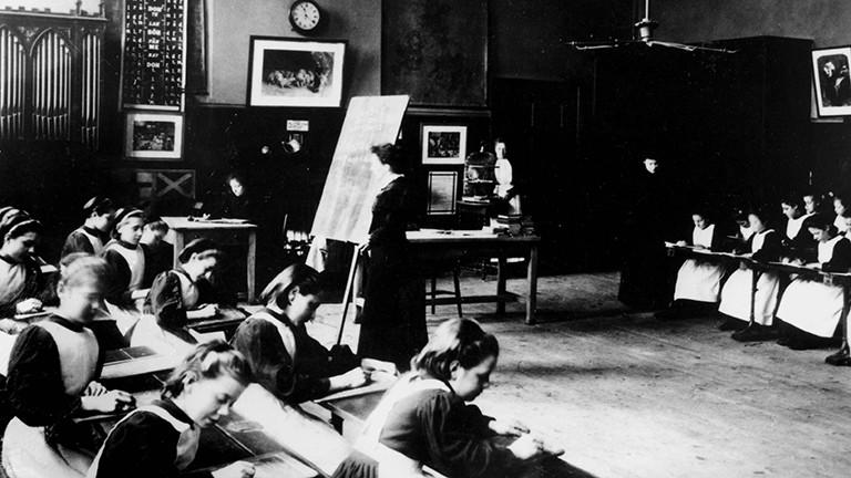 Unterricht um 1890 in der Marylebone School
