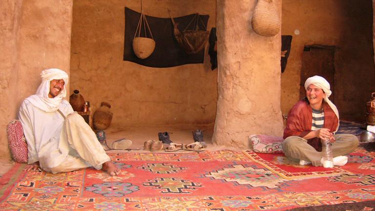 Karla Ahansal und ihr Mann in Marokko.