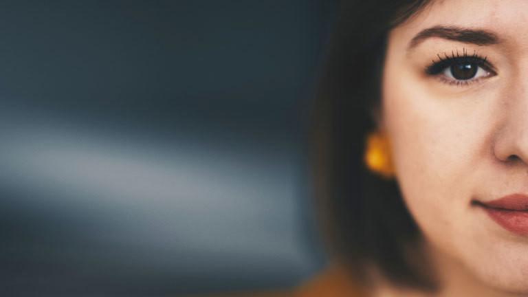 Gesicht einer Frau