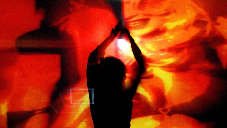 Techno-Musik in einem Club