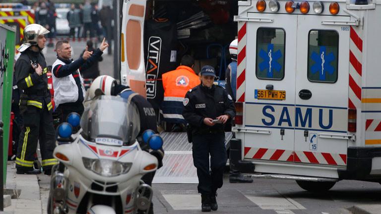 Ermittlungen nach dem Anschlag auf die Redaktion von Charlie Hebdo.