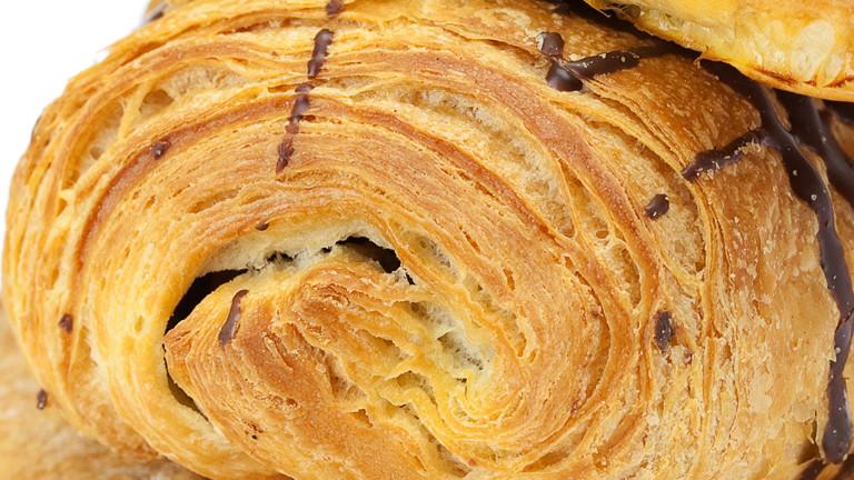 Ein Schoko-Croissant