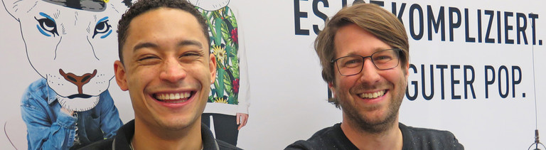 Loyle Carner (links) und Sebastian Sonntag (rechts)