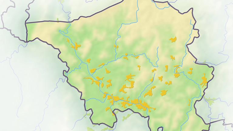 Grafik des Saarlandes