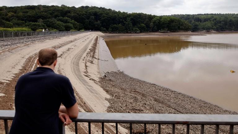 Steinbachtalsperre nach dem Hochwasser am 19.07.2021.