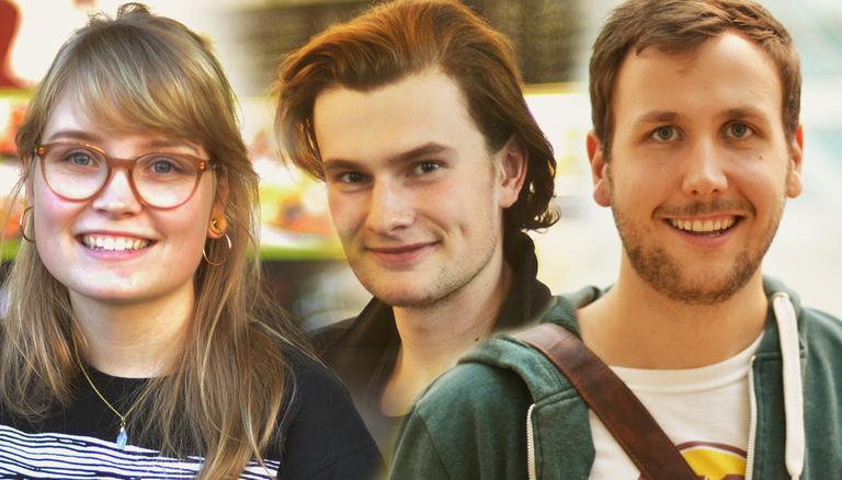 Lukas, Nina und André (von links nach rechts)