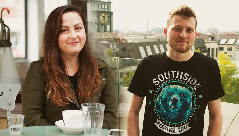 Julia (links) studiert im 3. Semester European Studies in Passau. Andreas (rechts) studiert im 3. Semester Bauingenieurwesen an der TU München.