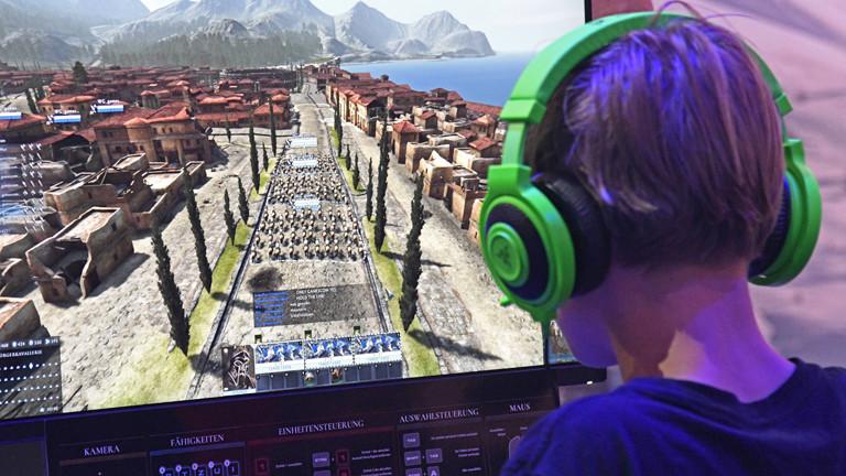 Computerspieler auf der Gamescom 2017