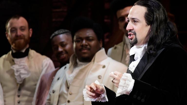 Musical Hamilton: rechts Autor und Hauptdarsteller Lin-Manuel Miranda