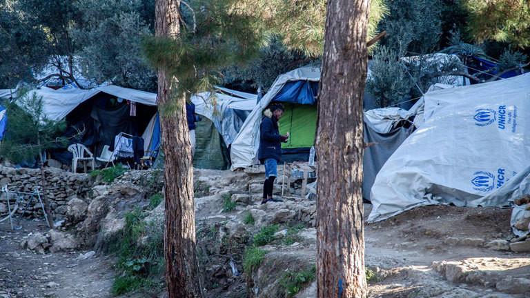 Camp Vathi auf der griechischen Insel Samos.
