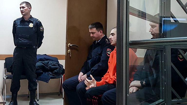 Der Rapper Husky am 22.11.2018 im russischen Gefängnis in Krasnodar