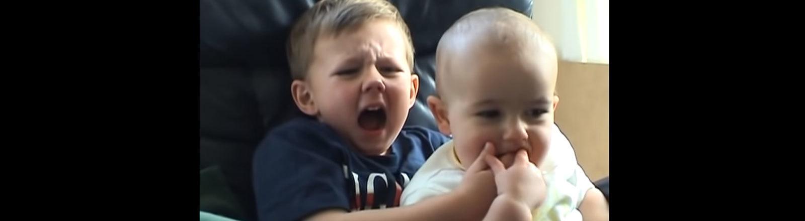 "Screenshot Youtube-Video""Charlie bit my finger"""