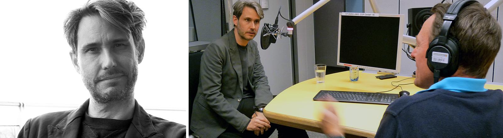 Dirk von Lowtzow im DRadio-Wissen Studio