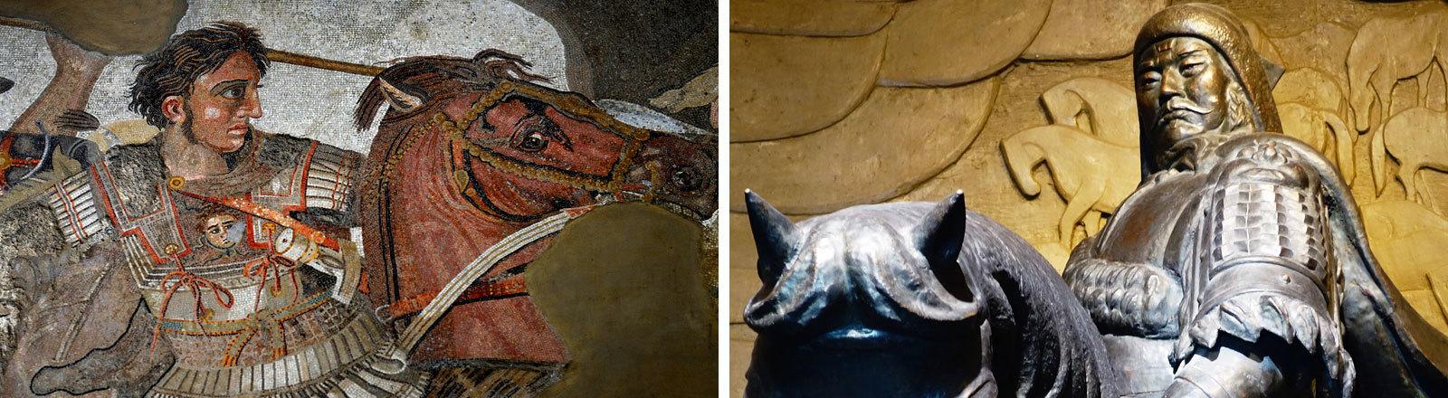 Darstellungen: Dschingis Khan und Alexander der Große