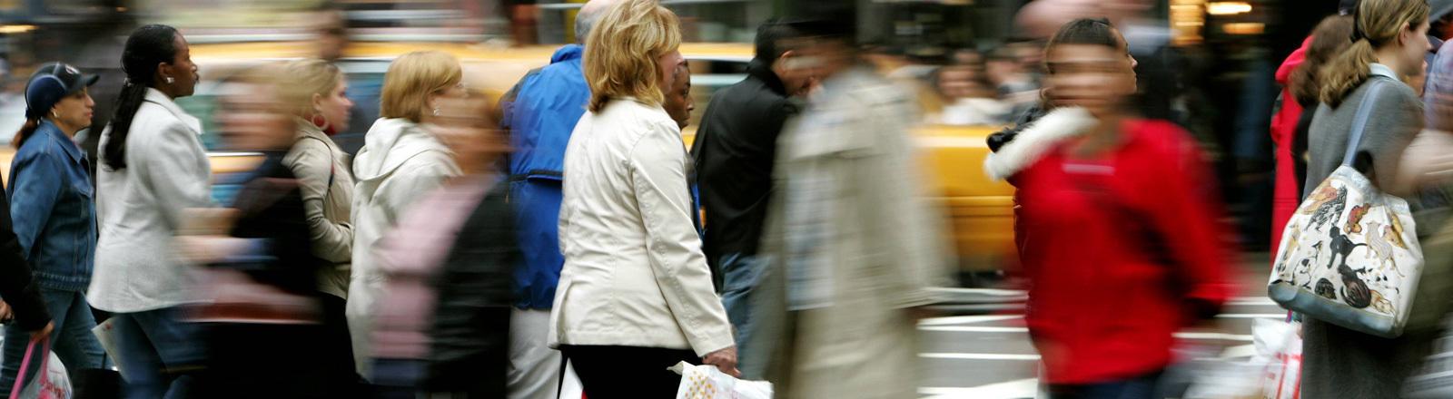 Menschen in der Rush Hour in New york