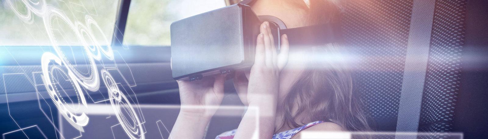 VR-Brille in selbstfahrendem Auto nutzen.