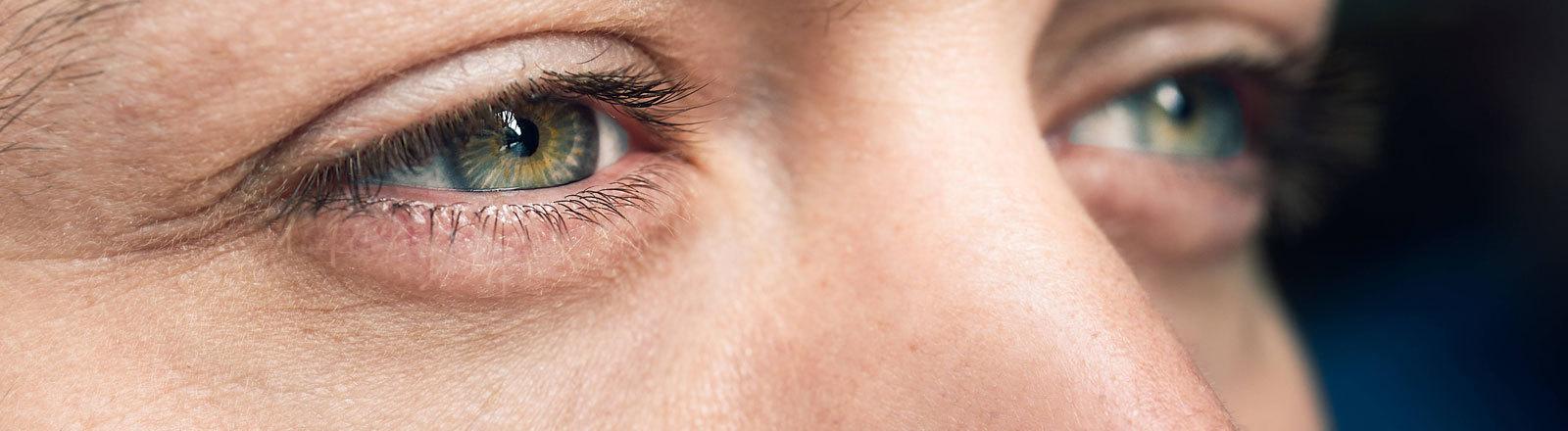 Die Augen eines Mannes.