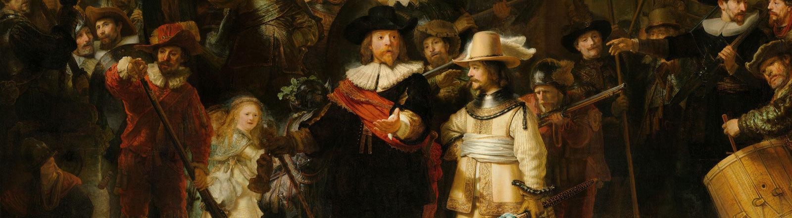 """Gemälde """"Die Nachtwache"""" des Malers Rembrandt"""