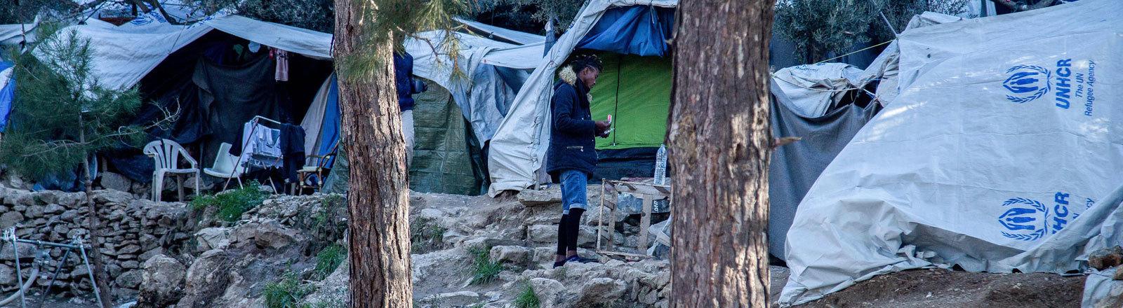 Ein Camp für Geflüchtete auf der griechischen Insel Samos.