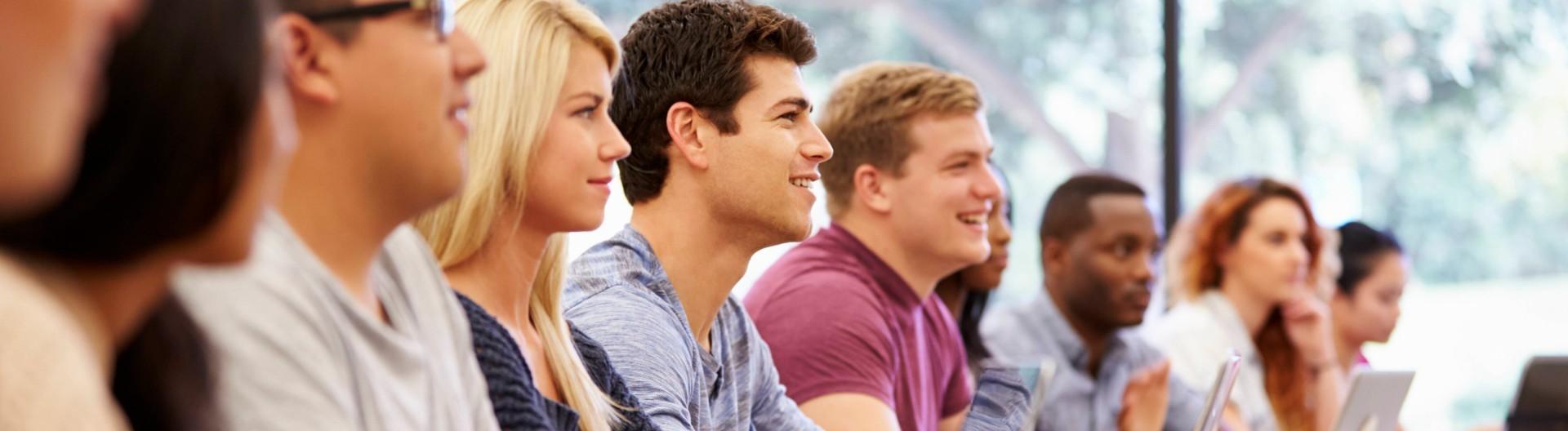 Studierende bei einer Vorlesung