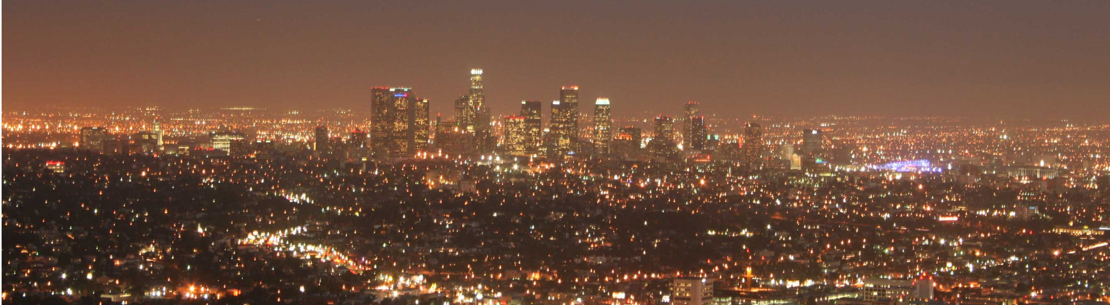 Los Angeles in der Nacht.