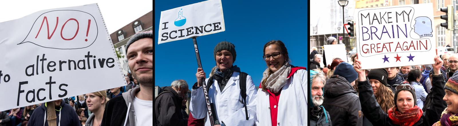 March for Science - Wissenschaftler protestieren die Wissenschaften.