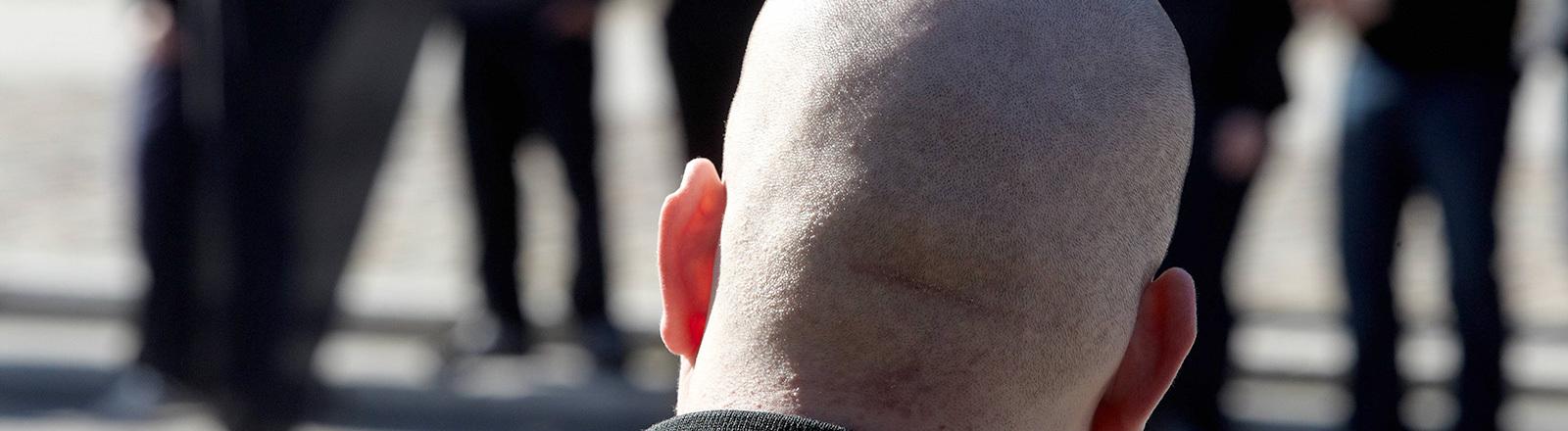Neonazi mit Glatze