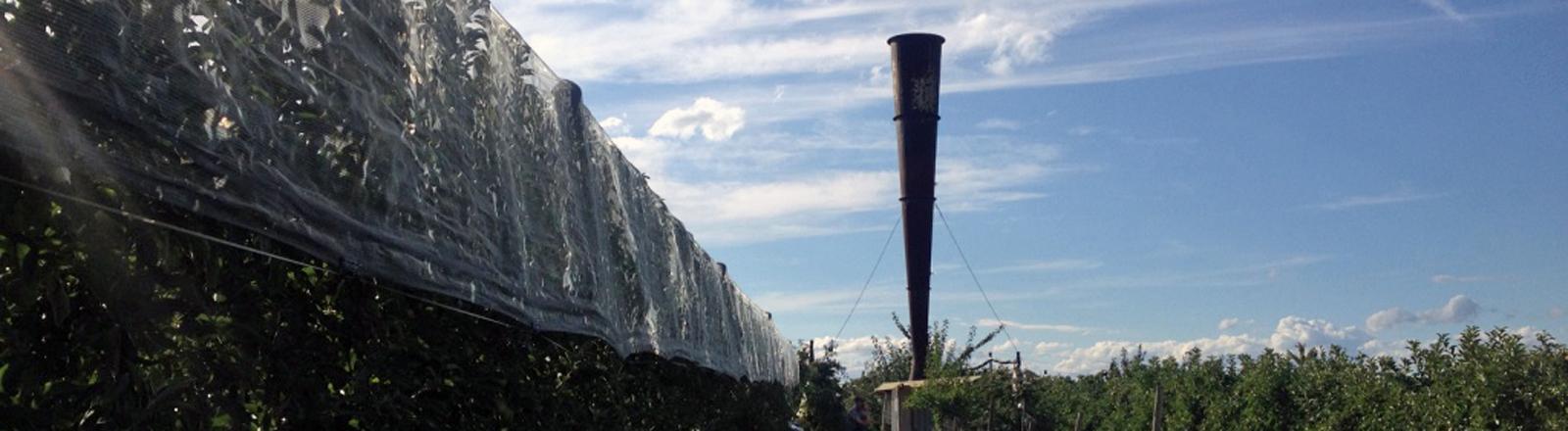 Eine Hagelkanone am Bodensee