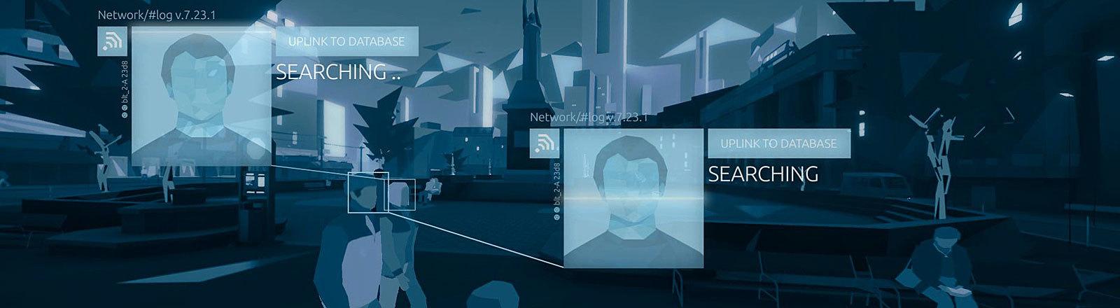 """Screenshot aus dem Spiel """"Orwell""""."""