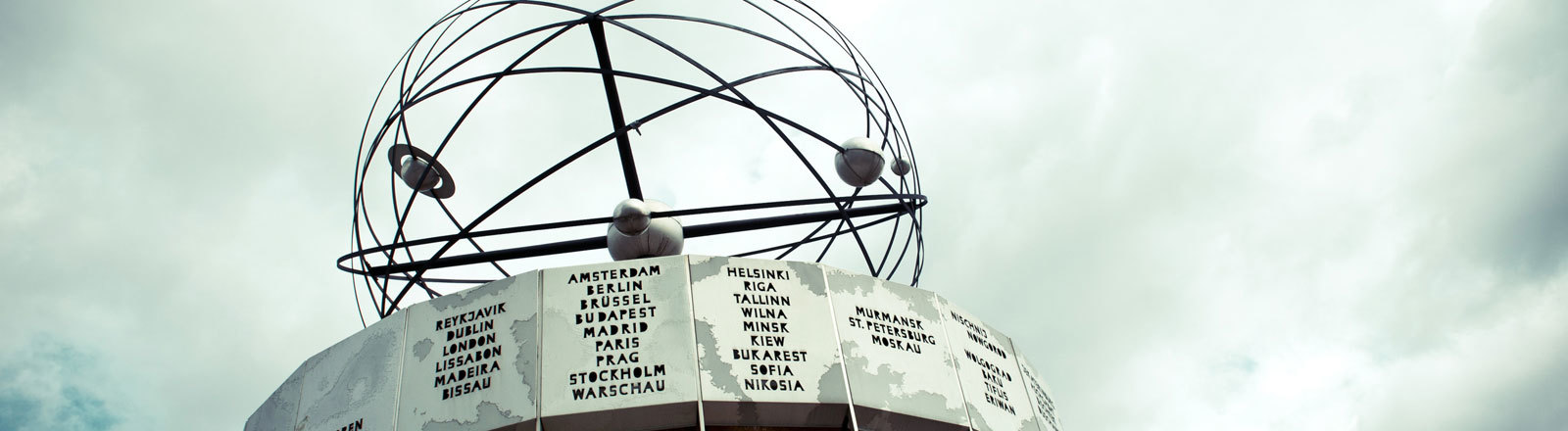 Weltzeituhr in Berlin.